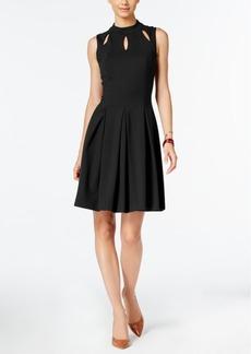 Alfani Mock-Neck A-Line Dress, Only at Macy's
