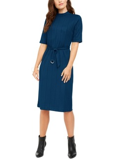 Alfani Mock-Neck Belted Dress, Created for Macy's