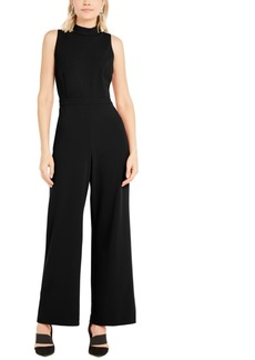 Alfani Mock-Neck Jumpsuit, Created For Macy's