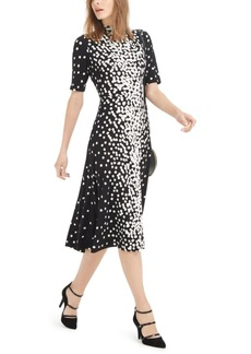 Alfani Mock-Neck Printed Midi Dress, Created For Macy's
