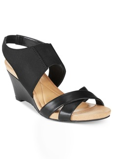 Alfani Monah Slingback Wedge Sandals, Only At Macy's Women's Shoes