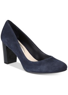 Alfani Morgaan Step 'N Flex Block-Heel Pumps, Created for Macy's Women's Shoes