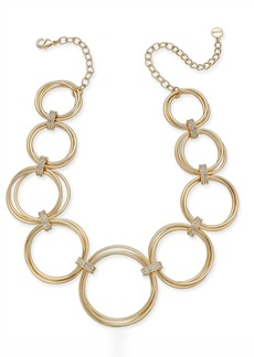 """Alfani Multi-Hoop Statement Necklace, 17"""" + 2"""" extender, Created for Macy's"""