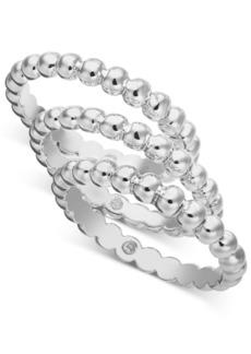 Alfani Multi-Tone 3-Pc. Set Bubble-Style Stacking Rings, Created for Macy's