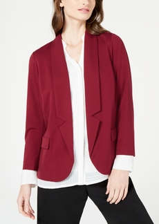 Alfani Notch-Collar Open-Front Jacket, Created for Macy's