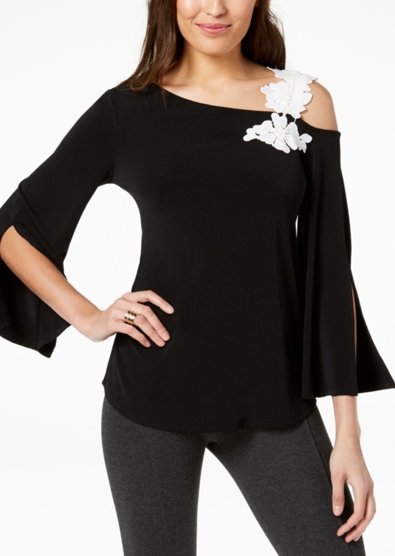 Alfani One-Shoulder Applique Top, Created for Macy's