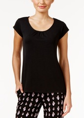 Alfani Pajama Top with Lace-Trimmed Keyhole Back, Only at Macy's