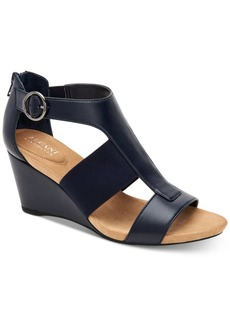 Alfani Pearcee Dress Wedge Sandals, Created for Macy's Women's Shoes