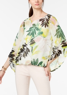 Alfani Petite Angel-Sleeve Bubble-Top, Created for Macy's
