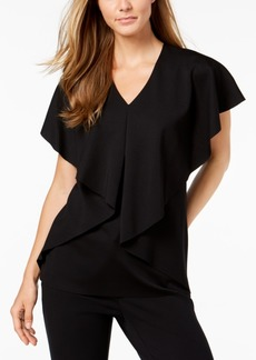 Alfani Petite Asymmetrical Cape Top, Created for Macy's