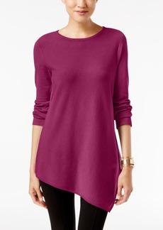 Alfani Petite Asymmetrical-Hem Sweater, Only at Macy's