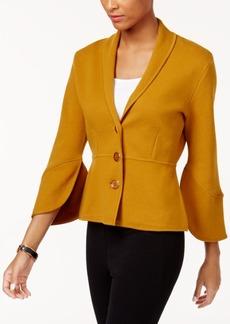 Alfani Petite Bell-Sleeve Collared Cardigan, Created for Macy's