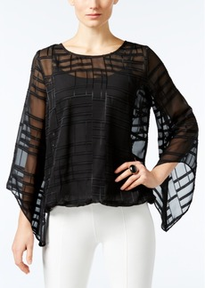 Alfani Petite Burnout Blouson Top, Only at Macy's