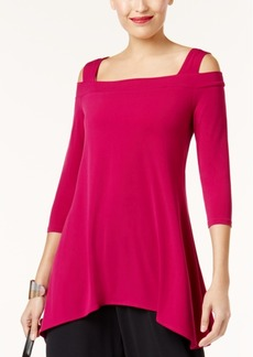 Alfani Petite Cold-Shoulder Tunic, Created for Macy's