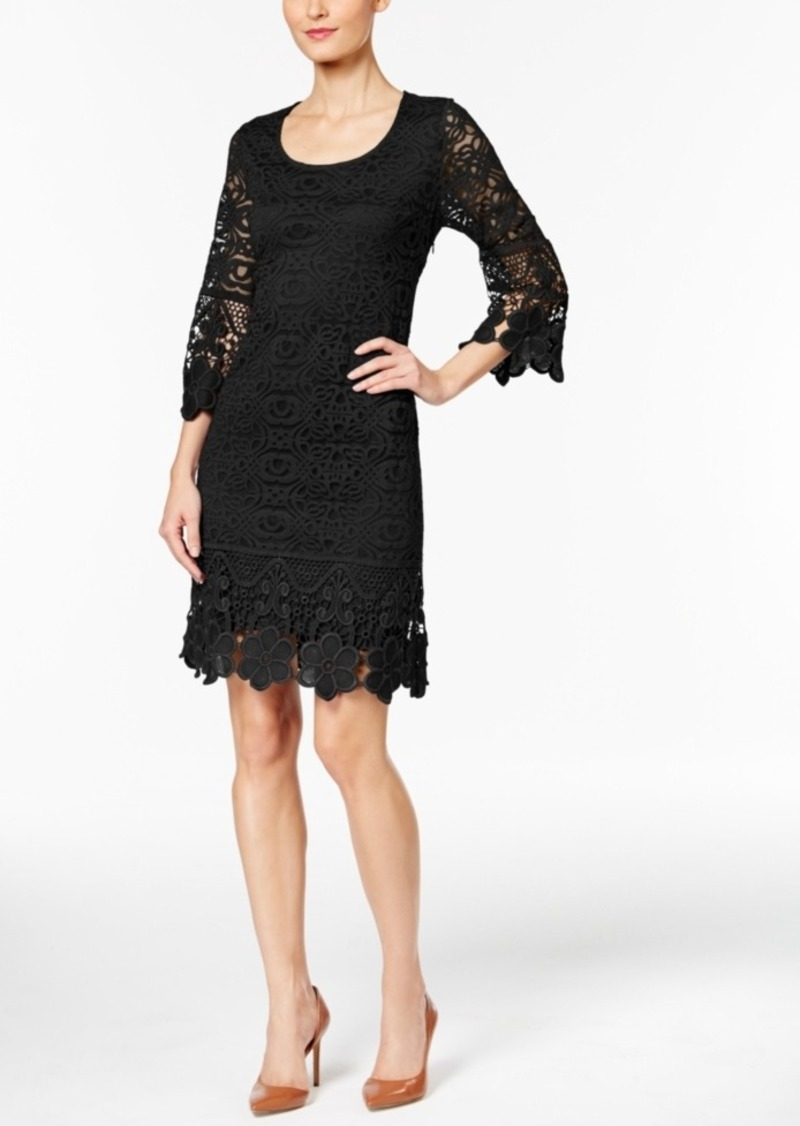Alfani Petite Crochet Shift Dress, Created for Macy's