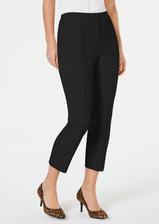 Alfani Petite Crochet-Trim Ankle Pants, Created for Macy's