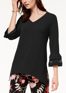 Alfani Petite Double-Bell-Sleeve Swing Top, Created for Macy's
