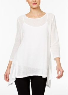 Alfani Petite Draped-Knit High-Low Top, Only at Macy's