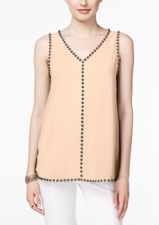 Alfani Petite Embellished Sleeveless Blouse, Only at Macy's