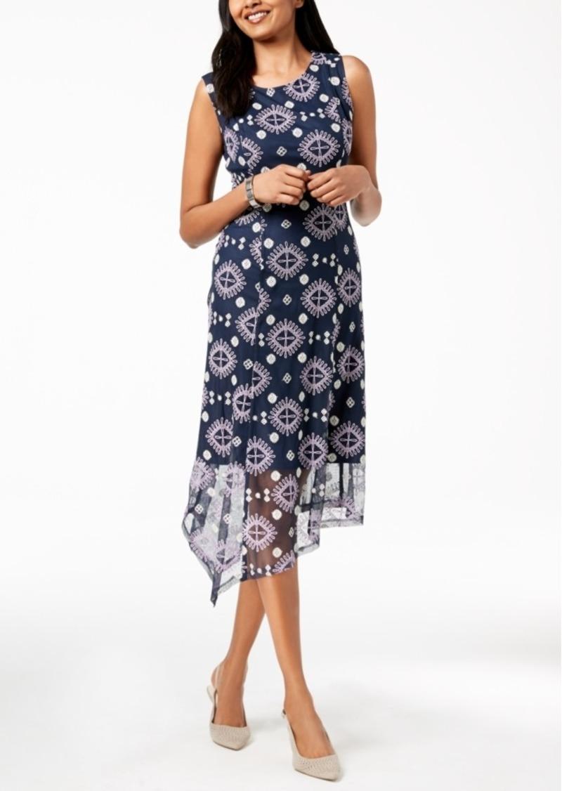 e8132307816 Alfani Alfani Petite Embroidered Asymmetrical Midi Dress