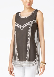 Alfani Petite Embroidered Tank Top, Only at Macy's