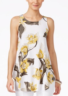 Alfani Petite Floral-Print Swing Top, Only at Macy's