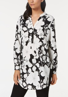 Alfani Petite Floral-Print Tunic, Created for Macy's