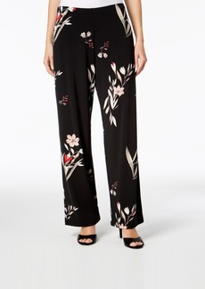 Alfani Petite Floral-Print Wide-Leg Pants, Created for Macy's