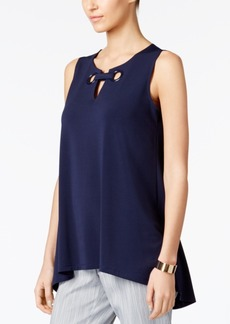 Alfani Petite Grommet Top, Created for Macy's