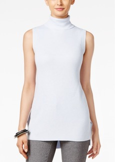 Alfani Petite High-Low Turtleneck Top, Only at Macy's