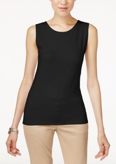 Alfani Petite High Neck Tank Top, Created for Macy's