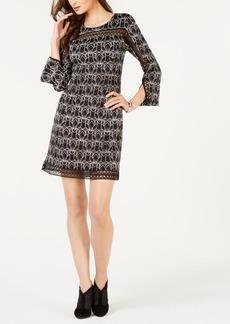 Alfani Petite Illusion-Lace Shift Dress, Created for Macy's
