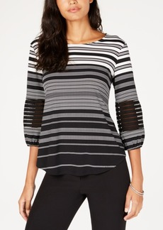 Alfani Petite Illusion Sleeve Top, Created for Macy's