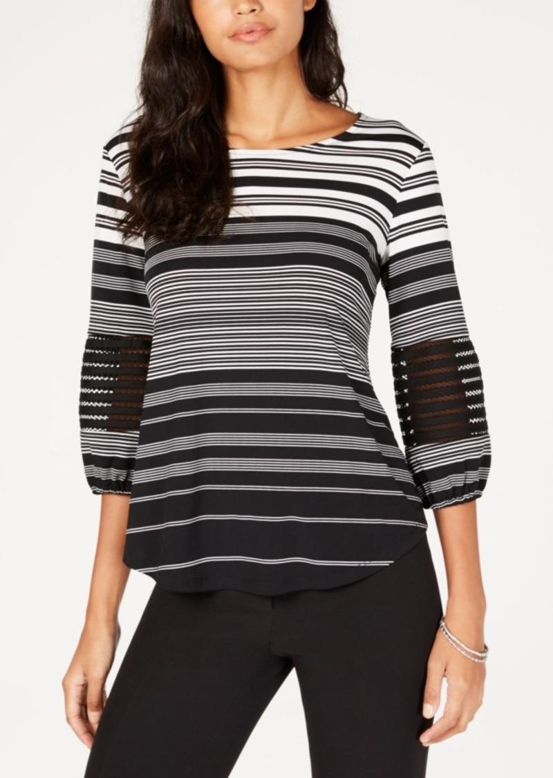 Alfani Petite Illusion Sleeve Top, Created for Macy's