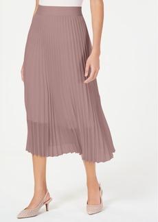 Alfani Petite Knife Pleat Midi Skirt, Created For Macy's