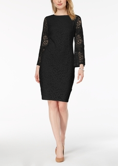 Alfani Petite Lace Bell-Sleeve Dress, Created for Macy's