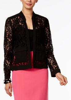 Alfani Lace Bomber Jacket, Only at Macy's