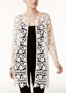 Alfani Petite Lace Topper Jacket, Created for Macy's