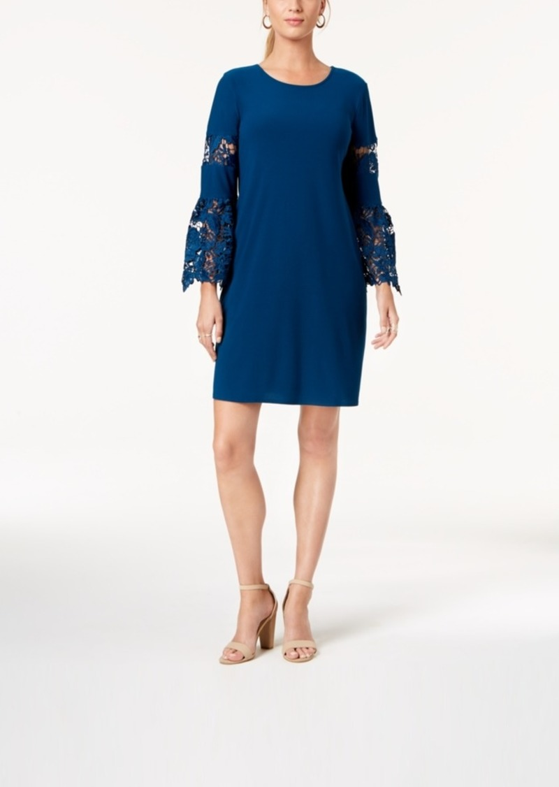 b825bc9e9bb Alfani Alfani Petite Lace-Sleeve Dress