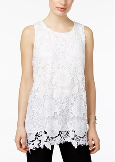 Alfani Petite Lace Top, Created for Macy's