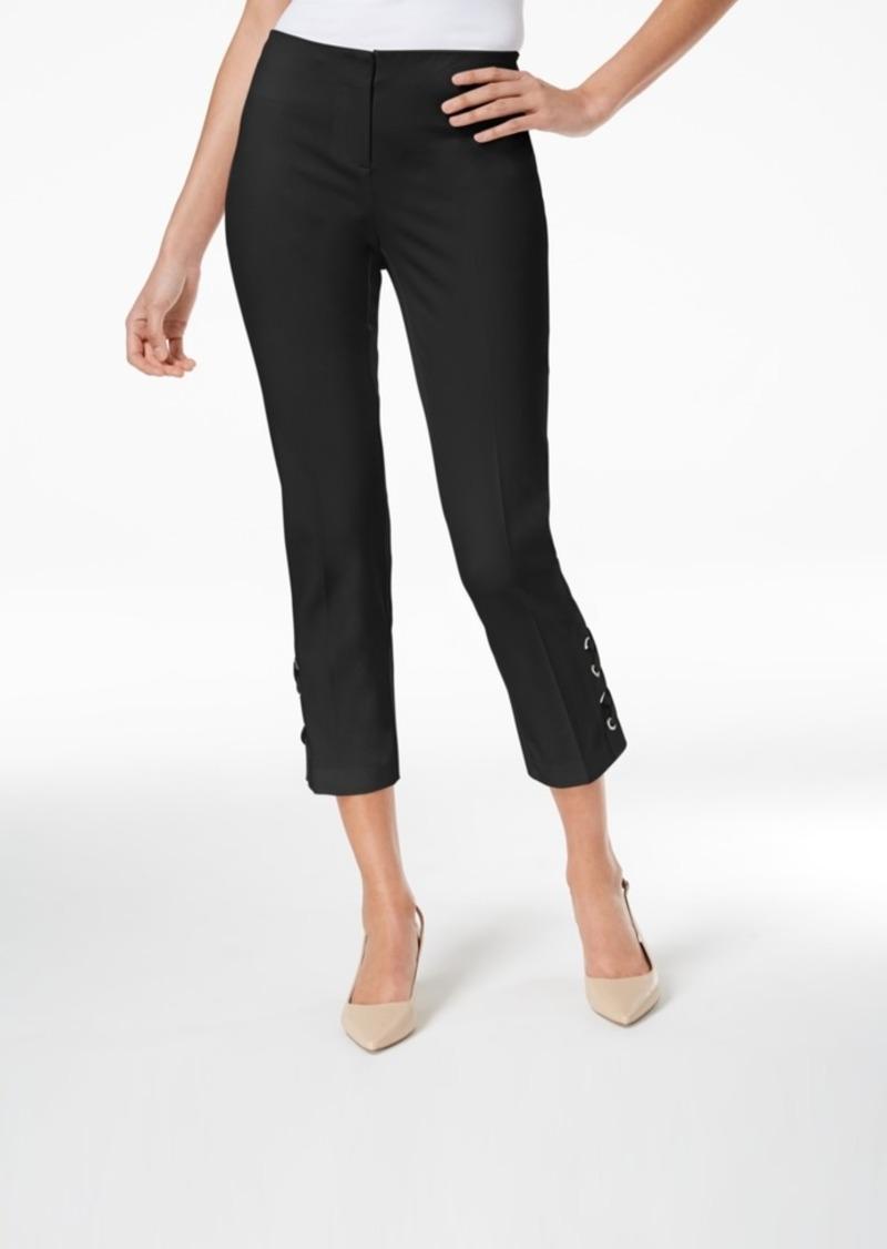Alfani Petite Lace-Up Capri Pants, Created for Macy's