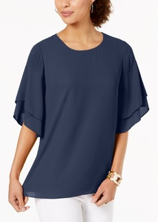 Alfani Petite Layered-Sleeve Top, Created for Macy's