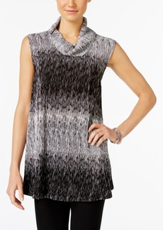 Alfani Petite Ombre Cowl-Neck Top, Only at Macy's