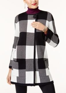Alfani Petite Plaid Sweater Jacket, Created for Macy's