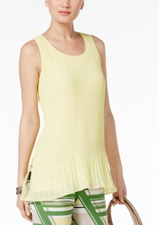 Alfani Petite Pleated Shell, Only at Macy's
