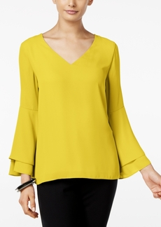 Alfani Petite Poet-Sleeve Blouse, Only at Macy's