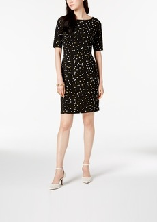 Alfani Petite Ponte-Knit Printed Dress, Created for Macy's
