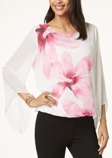 Alfani Petite Printed Angel-Sleeve Top, Created for Macy's