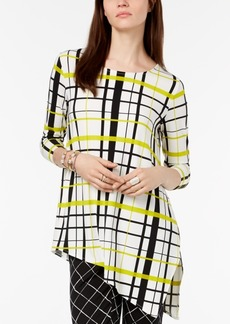Alfani Petite Asymmetrical Print Tunic, Created for Macy's