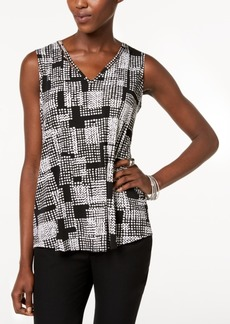 Alfani Petite Printed Beaded Top, Created for Macy's